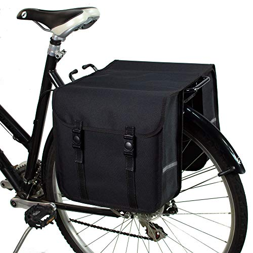 BikyBag Clásica - Doble Alforjas para Bicicletas (Negro)