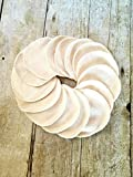 Bamboo Velour Reusable Makeup Remover Pads - 15 pack in Ivory
