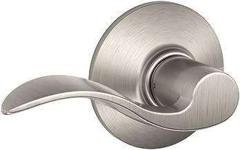 Schlage Lock Company 01366003419 Schlage F10VACC619 Accent Passage Lever, Satin Nickel, 1 Pack