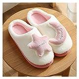 LDH Zapatillas para Mujer para Hombre Muebles de Invierno Zapatillas Al Aire Libre para Mujer Cálidas Y Antideslizantes Resplandor de Parejas Espesas Zapatillas para Espuma de Memoria