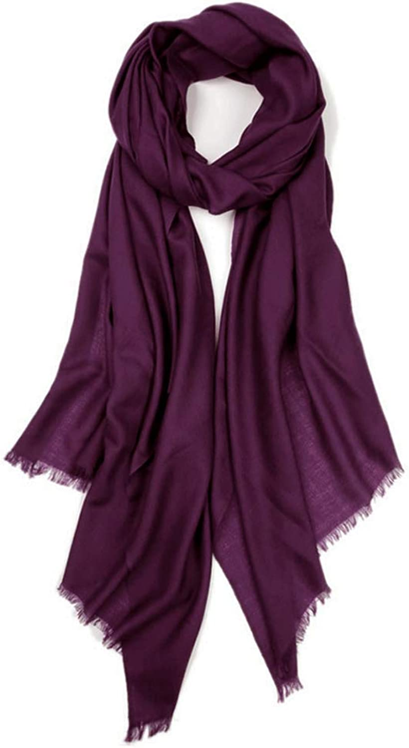 CHX Scarf 240cm×100cm Autumn Winter Woman Oversized Size Thin Soft Elegant Warm Wrap Shawl V (color   Purple)