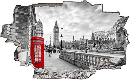 Fotografie London Telefon Box Wandtattoo Wandsticker Wandaufkleber C1868 Größe 40 cm x 60 cm