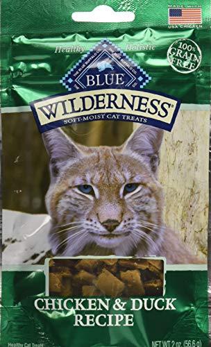 Blue Buffalo Wilderness Chicken And Duck Grain Free Soft-Moist Cat Treats, 2 Oz (Pack Of 12)