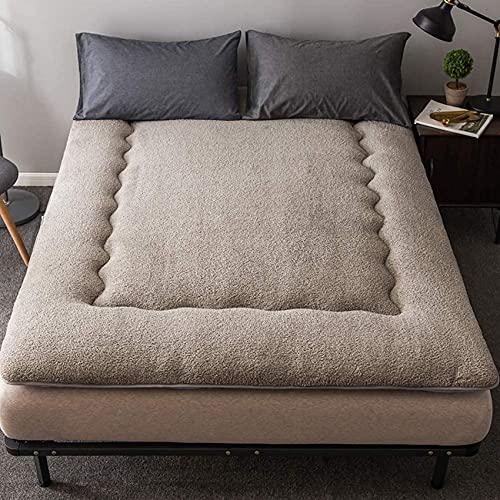 Quiltad futon madrassöverdrag japansk traditionell madrass Tatami säng fällbar tjock madrass för sovande mjuk säng gästsäng-blå 90x190cm (35x75 tum)