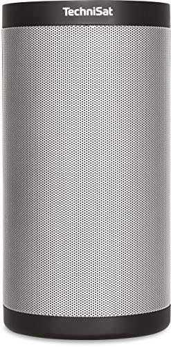 TechniSat TECHNISOUND MR2 Multiroom Lautsprecher (mit Audiostreaming, Internetradio, 2 x 10 Watt Wireless Speaker, Spotify Connect, UPnP Audio-Streaming) schwarz/silber