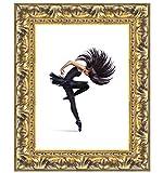 Wallazz Cornice portafoto in Legno da Parete, Made in Italy, Stile Classico, Dimensione 50X70 cm, Colore Oro