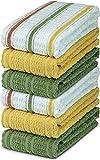 DecorRack 6 Large Kitchen Towels, 100% Cotton, 16 x 27...