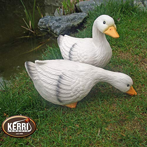 Kerri-Keramik Gänsepaar Gans Gänse Gartendeko
