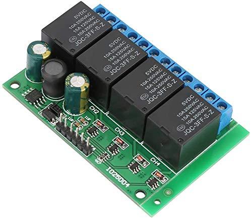 Module Relais 4 Kanäle Flip-Flop Low Pulse Trigger Selbstsperrendes Relaismodul für Smart-Home-Anwendungen 6-24VDC