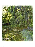 Weeping Willows, The Waterlily Pond at Giverny, c.1918 by Claude Monet Art Print, 15 x 20 inches