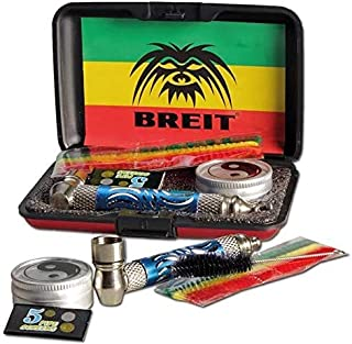 ARL Group - Coffret Gris Pipe Metal 'BREIT' + 1 Brosse De Nettoyage + 1 Boite Ying-Yang + 5 Grille Tamis + 3 Cure-Pipes