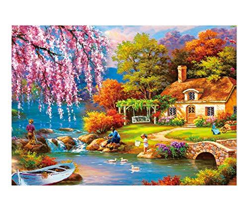500 Pezzi di Puzzle Giocattolo per Adulti o Bambini Gioco di Puzzle Decorazioni per la casa e Regali Unici: Pesca sul Fiume
