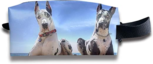Makeup Cosmetic Bag Cute Great Dane Dog Medicine Bag Zip Travel Portable Storage Pouch for Mens Womens