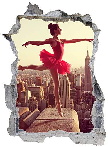 Ballett Ballerina Tanz New York Wandtattoo Wandsticker Wandaufkleber E0658 Größe 46 cm x 62 cm