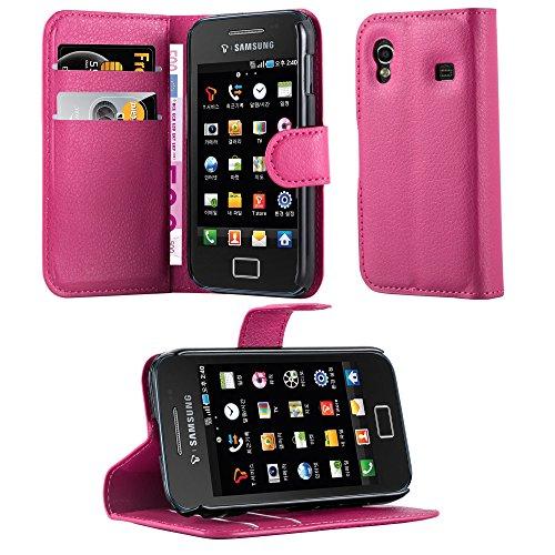 Cadorabo Custodia Libro per Samsung Galaxy Ace 1 in Rosa Vivo - con Vani di Carte, Funzione Stand e Chiusura Magnetica - Portafoglio Cover Case Wallet Book Etui Protezione
