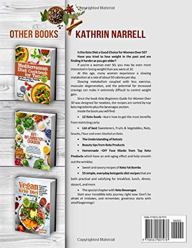 51D4PXyqCNL - Keto Beginners Guide For Women Over 50: The Ultimate Ketogenic Diet Cookbook for Seniors with Low Carb Recipes and DIY Face Masks For Anti-Aging Effect