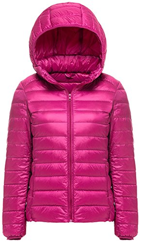 Mochoose Donna Inverno con cappuccio Giù Giubbotto imbottito cappotto Packable ultra leggero