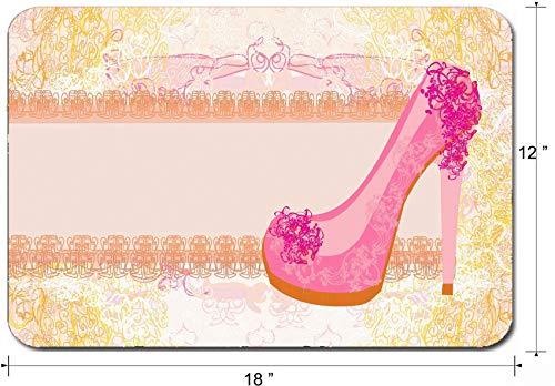 Große Mauspad Rutschfeste Gummi Gaming Mousepad,Schreibtischmatte Blumenschuhe Poster 30X25CM,Maus Mausunterlage,Rutschfeste Unterseite