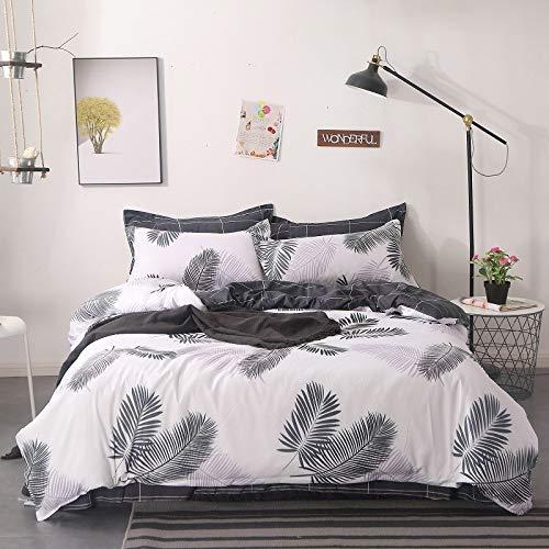yaonuli 4-delige slaapzaal voor dekbedden, drie delen abrikozenvliegen, 4-delige set [afmeting dekbed 200 * 230], 2,0 bedden