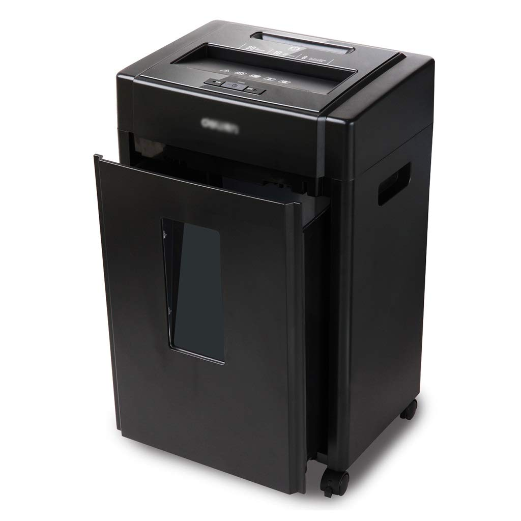 カメラ寄託アナログ古紙ファイルシュレッダー14Lペーパークラッシャーネイルディスクシュレッダー5段式シークレットサイレントシュレッダーオフィスシュレッダー (Color : Black, Size : 35*25*55cm)