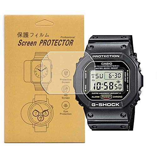 [5-Pcs] For Casio DW-5600 /DW5600 G SHOCK Watch Screen Protector, Full Coverage Screen Protector for DW-5600Watch HD Clear Anti-Bubble and Anti-Scratch