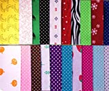 20pcs Colored Felt Sheets Mix with Patterns Polyester Fabric Embroidery Scrapbooking Home Decor DIY Craft Pack 20cm x 30cm x 1mm