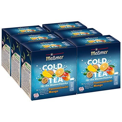 Meßmer Cold Tea Passionsfrucht-Mango, 14 Pyramidenbeutel, 6er Pack