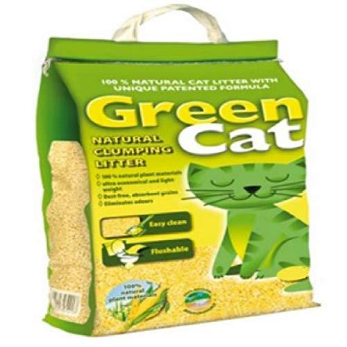 100% NATURAL CAT LITTER 10L 20L - FLUSHABLE ABSORBENT GRAINS DUST FREE...
