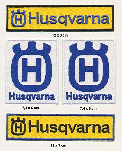Husqvarna Aufnäher Aufbügler Patches 4 Stück Set Motorrad MX TURBOVERSAND