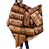 Natural Wine Corks Wood Salon Cape Barber Hairdressing Cape Large Long Hairdressing Haircut Apron Hair Cutting Gown 55x66 In