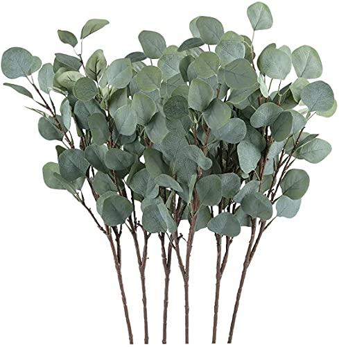 Chenguo 3 Stück Künstliche Eukalyptus-Blatt-Spray, 65 cm hoch, Eukalyptus-Blatt, für Party, Hochzeit, Garten Dekoration Grün