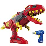 YIER Dinosaur Toys for Boys Girls 3 4 5 9 Years Old Jurassic World Dinosaur Figure Transformer Toys - Take Apart Toys for Toddlers(Tyrannosaurus with Drill)