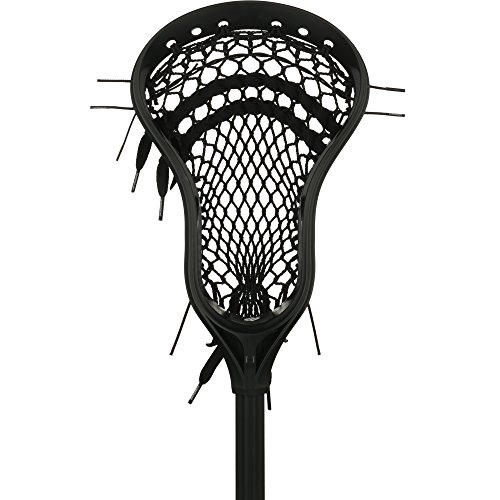 StringKing Complete 2 Intermediate Attack Lacrosse Stick (Black/Black)