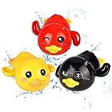 aovowog Badewannenspielzeug Badespielzeug Baby Kinder ab 1 2 3 Jahren Wasserspielzeug Badewanne 3 Stücke ABS Plastik Sicher