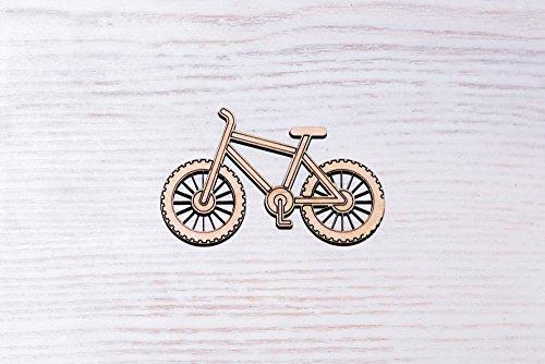 Set di 10 pezzi di legno compensato per bicicletta taglio laser, taglio legno, figura in compensato, forma di ornamenti in legno, decorazione artigianale decoupage non verniciato (EW0262) (7 cm)