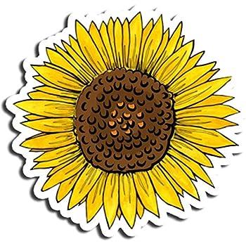 Amazon Com Yellow Sunflower Sticker Flower Stickers Waterbottle Sticker Tumblr Stickers Laptop Stickers Vinyl Stickers Kitchen Dining