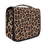 Hanging Travel Toiletry Bag Kit Makeup Case Cosmetics Organizer for Men Women leopard