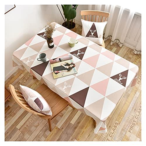 JSJJWSX Mantel de mesa rectangular con estampado impermeable, para decoración de fiestas en el hogar (color: 3, especificación: 100 x 135 cm)