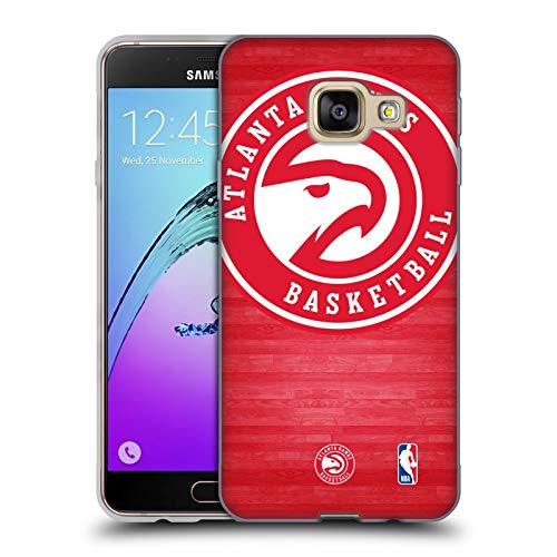 Head Case Designs Ufficiale NBA Tribunale Smisurato Atlanta Hawks 3 Cover in Morbido Gel Compatibile con Samsung Galaxy A3 (2016)