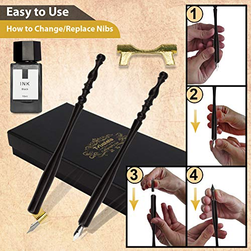 Calligraphy Set For Beginners, Calligraphy Pens for beginners, Calligraphy Pen Set, Calligraphy Kit for Beginners, Dip Pen Set, oblique pen holder, 19 Calligraphy Nibs, Caligraphy set, Wooden Pen Set