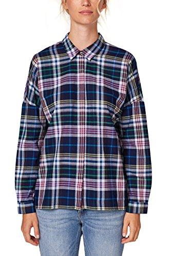 ESPRIT Damen 088EE1F007 Bluse, Mehrfarbig (Navy 400), Medium