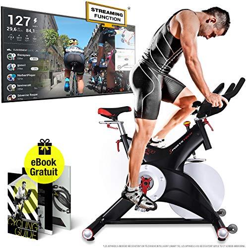 Sportstech vélo Appartement Silencieux SX500 - Marque Allemande de qualité -Video Events &...