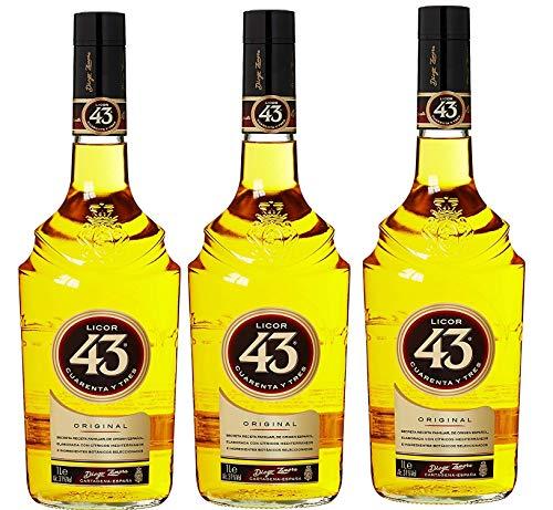 3 Flaschen Licor 43 cuarenta Y Tres likör a 1000ml (3 x 1 l)