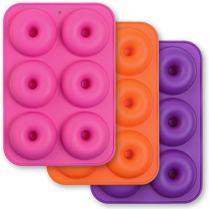 343 opinioni per Cozihom- Stampo per ciambella in silicone a 6 cavità, per bagel in silicone,
