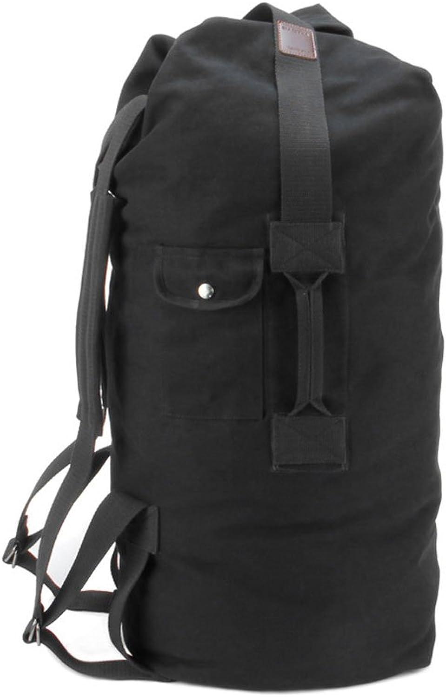 ZOUQILAI Canvas Bag Backpack Men's LargeCapacity Travel Backpack Bucket Bag Outdoor Climbing Bag Men's Bag Handbags