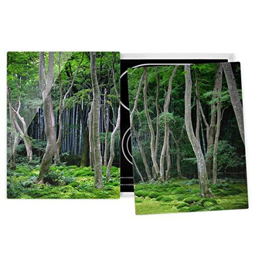 Bilderwelten Protège-Plaque Universel vitrocéramique - Japanese Forest 52 x 80 cm