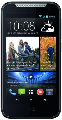 HTC Desire 310 Smartphone (11,4 cm (4,5 Zoll) FWVGA Bildschirm, Quad-Core, 1,3GHz, 1GB RAM, 5 Megapixel Kamera, Android 4.2) weiß