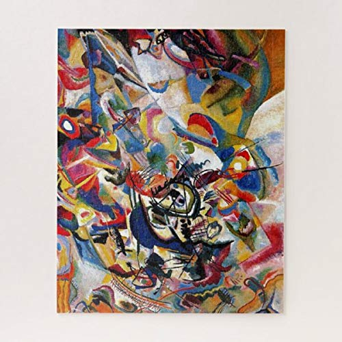 CiCiDi Kandinsky Composition VII Abstract Painting Jigsaw Puzzle 1000 Pieces for Adult Entertainment DIY Toys , Graet Gift Home Decor
