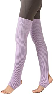CHUNG Women's Over Knee Thigh High Warm Leg Warmers Stirrup Thermal 80s Long Socks Yoga Ballet Dance