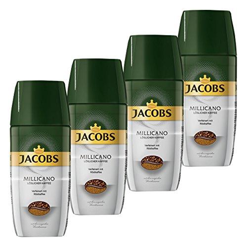 Jacobs Millicano Kaffeekomposition, löslicher Kaffee, Instantkaffee, 4er Pack, 4 x 100g